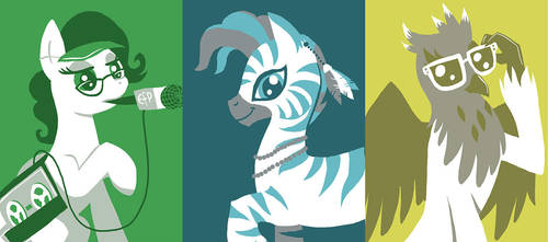Everfree NW badge art by Pedantia