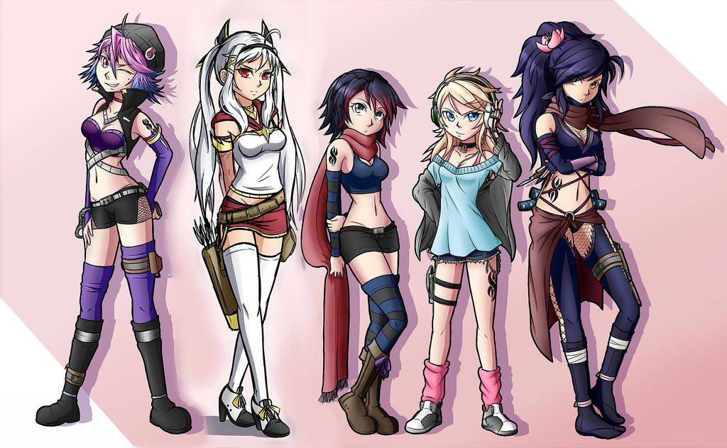 Previous Gril Line-up by Magnolia-Baillon