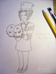 Daily drawing 21: Pom-pom Girl Grenade by Kev-ncartoon