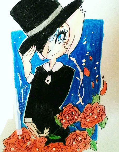 Tuxedo in Roses by ToffeeKiwwie