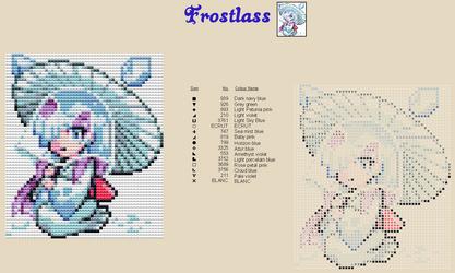 Frostlass Moemon Cross Stitch by zombiefriedchicken