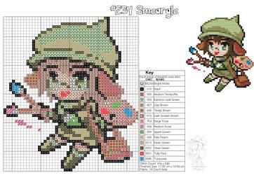 Smeargle Moemon Cross Stitch by zombiefriedchicken