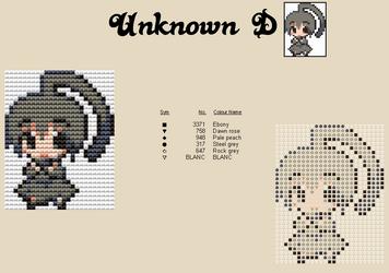 Unknown D Moemon Cross Stitch by zombiefriedchicken