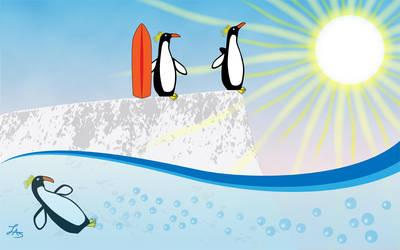 Penguin Paradise by CGStirk