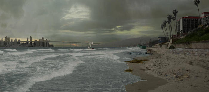 Matte Painting - Beach WIP by CGStirk