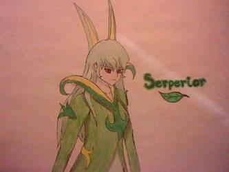 Serperior Ginjinka by OneFreeSpiritedFilly