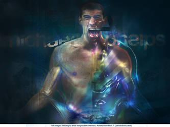 Michael Phelps wallpaper v2 by johnleBP