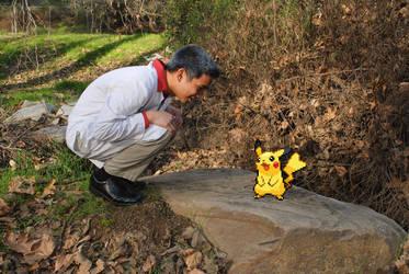 Pikachu and Professor Oak by patricktomas