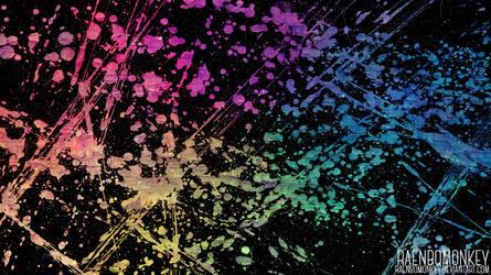 Funky Splatter Wallpaper by raenbomonkey