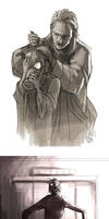 Metal Gear Solid V Trailer Scribbles by arok318