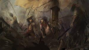 Pirate battle by BiwerVincent