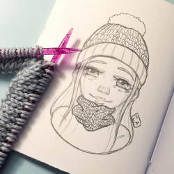 Knitwear Sketch by MadlyLoveableArt