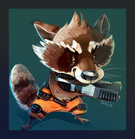 Rocket Racoon by Daguu