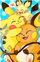 Pikachu Cuddle Puddle by Daguu