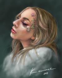 Lady Gaga (Digital Art) by babygagaloo