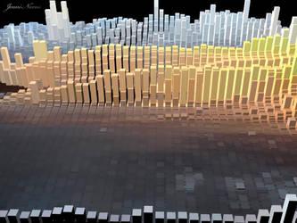 3D Sunset Extrusion by JenniNexus