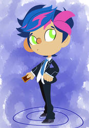 Yusaku Fujiki from VRAINS by Trash-queen-puffy