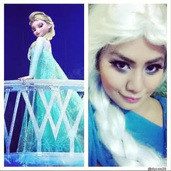 Elsa from Frozen (makeup and wig test) by lethargic-angel