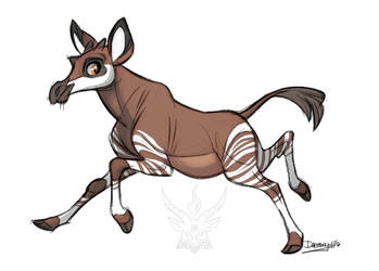 Okapi by Daemonysh-Art