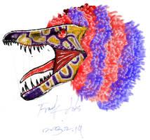 Sinornithosaurus by LonelySpinosaurus