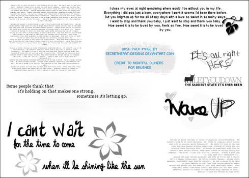 Words Brush Image Pack 7 by secretheart-designs