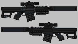 Shadowrun Rifle by hughesdm