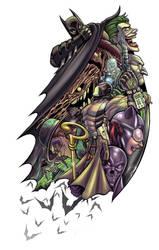 Bat-MASh TATTOO SLEEVE by theMASman
