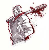 INKTOBER - Walking Dead: Negan  by theMASman