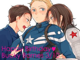 Happy Birthday Bucky Barnes by emusuke