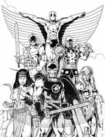 Avengers Team by tonyperna