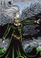 Morrigan Sketch Card - Classic Mythology II by tonyperna