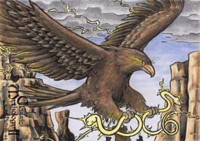 Thunderbird Sketch Card - Classic Mythology II by tonyperna