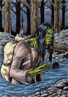 Qalupalik Sketch Card - Classic Mythology II by tonyperna
