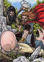 Thor Sketch Card - Classic Mythology II by tonyperna