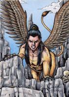 Sphinx Sketch Card - Classic Mythology II by tonyperna