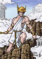 Hermes Sketch Card - Classic Mythology II by tonyperna