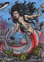 Sedna AP Sketch Card - Classic Mythology II by tonyperna