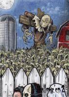 Scarecrow Sketch Card - Hallowe'en 2 by tonyperna