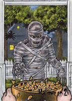 Mummy Sketch Card - Hallowe'en 2 by tonyperna