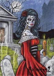 Day of the Dead Sketch Card - Hallowe'en 2 by tonyperna