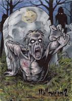 Zombie Sketch Card - Hallowe'en 2 by tonyperna