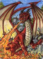 Dragon Metal Sketch Card - Spellcasters II by tonyperna
