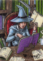 Witch Sketch Card 4 - Hallowe'en Witchcraft by tonyperna