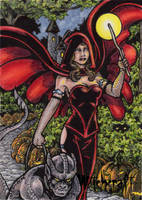 Witch Sketch Card 5 - Hallowe'en Witchcraft by tonyperna