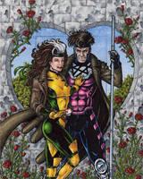 Rogue + Gambit - Marvel Universe AP by tonyperna