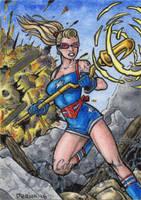 DC: Bombshells - Stargirl by tonyperna