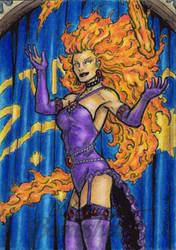 DC: Bombshells - Starfire by tonyperna