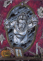 Hallowe'en 3 - Sketch Card 1 by tonyperna