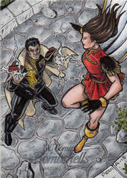 DC: Bombshells 2 - Mary Marvel Vs. Black Adam by tonyperna