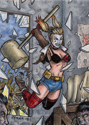 DC: Bombshells 2 - Harley Quinn by tonyperna